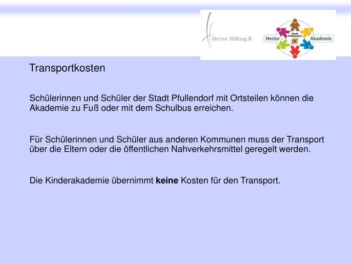 Transportkosten
