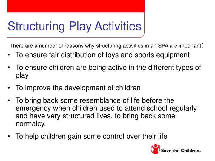 Structuring Play Activities