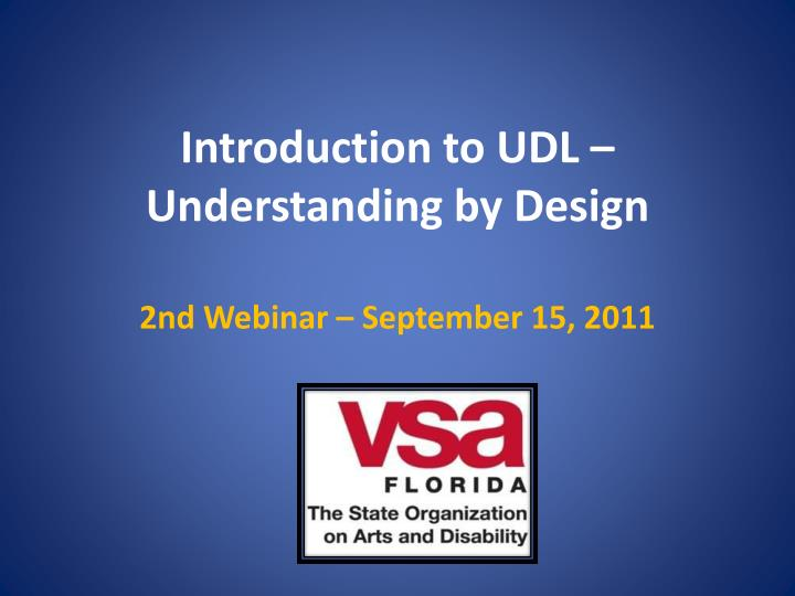 introduction to udl understanding by design