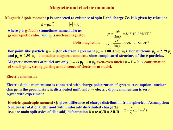 Electric quadruple moment