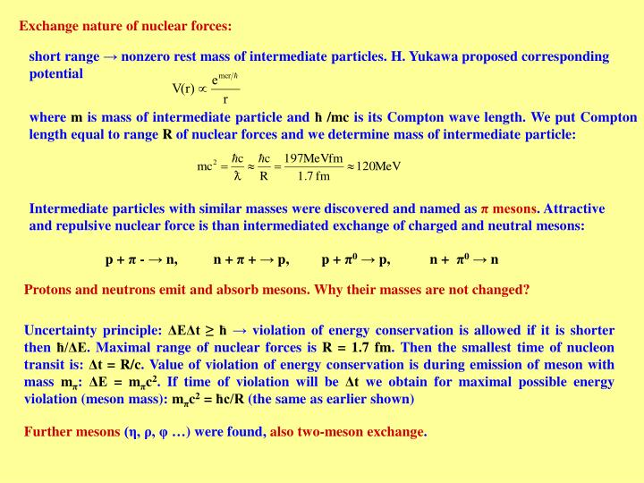 Exchange nature of nuclear forces: