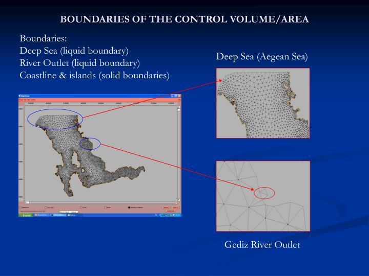 BOUNDARIES OF THE CONTROL VOLUME/AREA