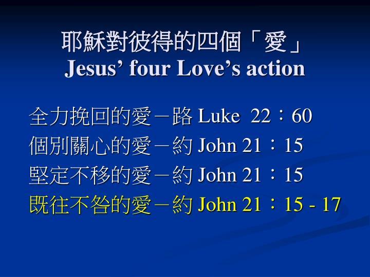 耶穌對彼得的四個「愛」