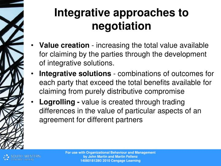 negotiation integrative negotiation Learn the difference between integrative and distributive negotiation and strategies on how to cope them.