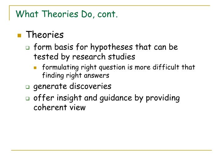 What theories do cont