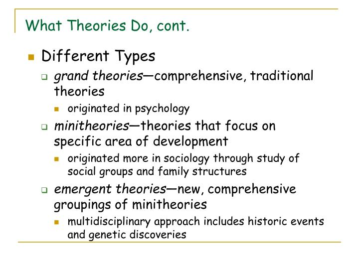 What Theories Do, cont.