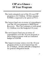 cip at a glance 10 year program