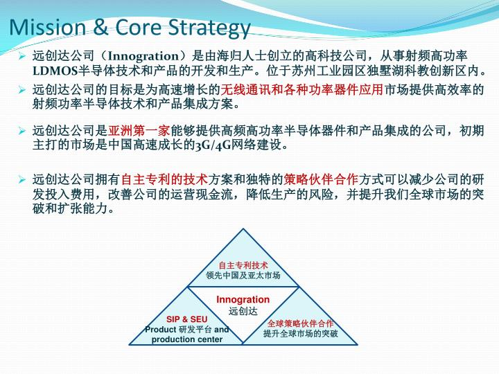 mission core strategy