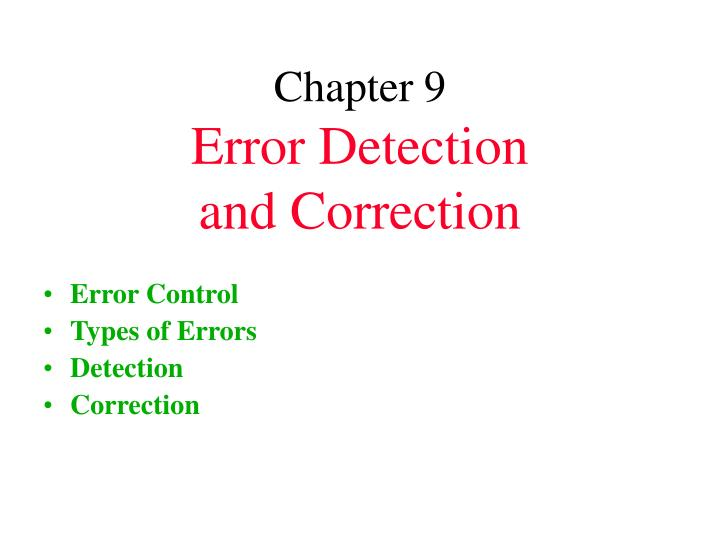 error detection and correction coding information technology essay A guide for authors and other relevant information for submission of manuscripts is available on the instructions for authors page sensors is an international peer-reviewed open access monthly journal published by mdpi.