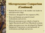 microprocessor comparison continued