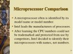 microprocessor comparison