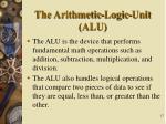 the arithmetic logic unit alu