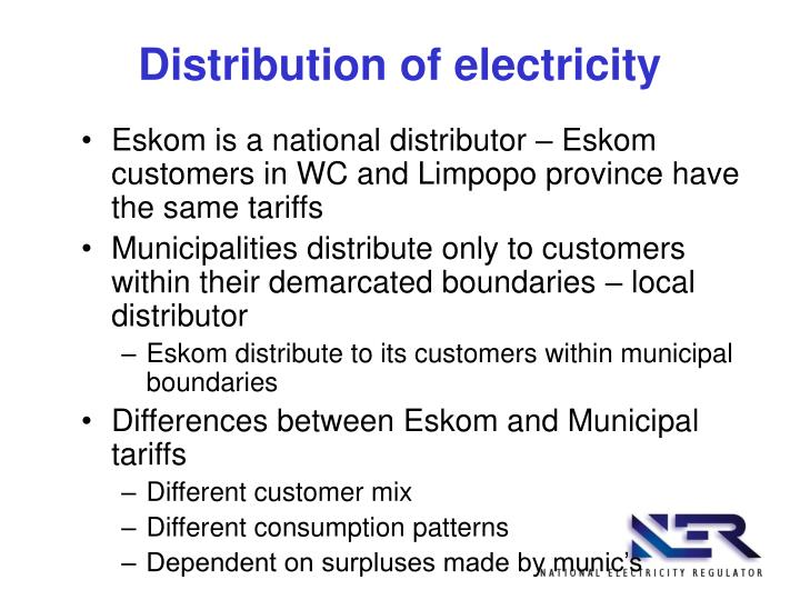 Distribution of electricity