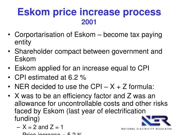 Eskom price increase process