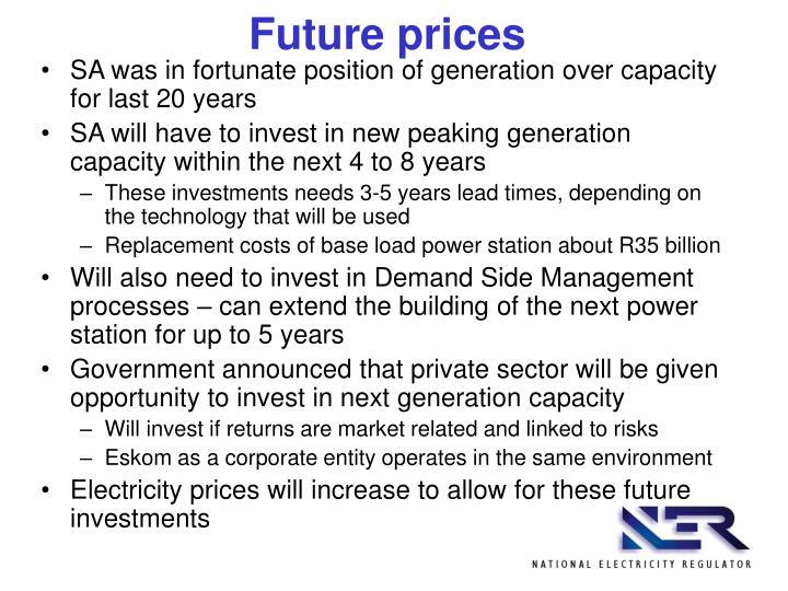 Future prices
