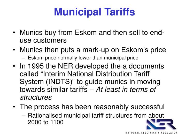Municipal Tariffs