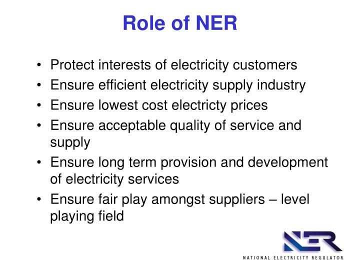 Role of NER