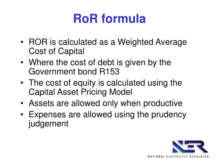 RoR formula