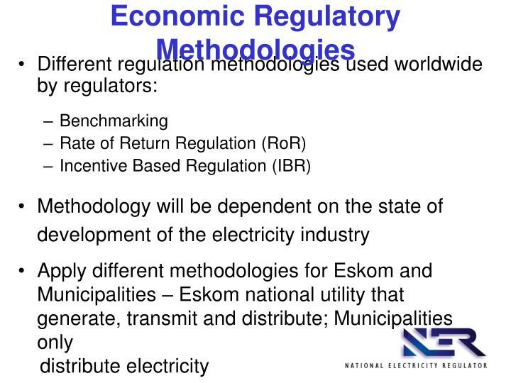 Economic Regulatory Methodologies
