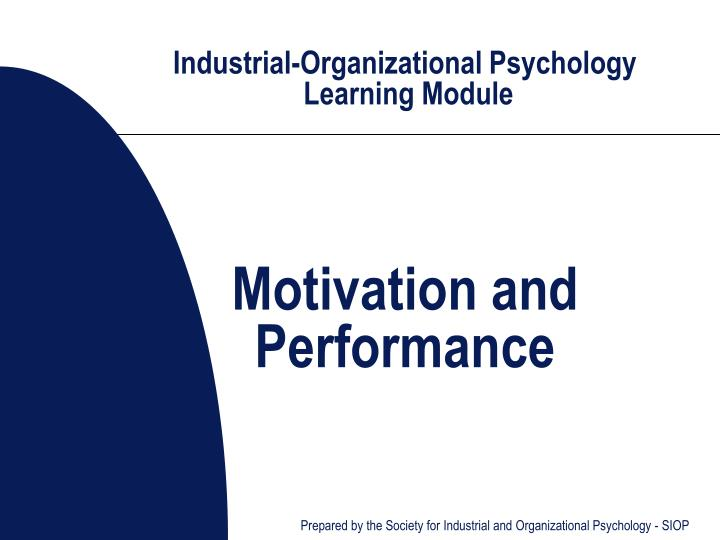 Ppt Industrial Organizational Psychology Learning Module