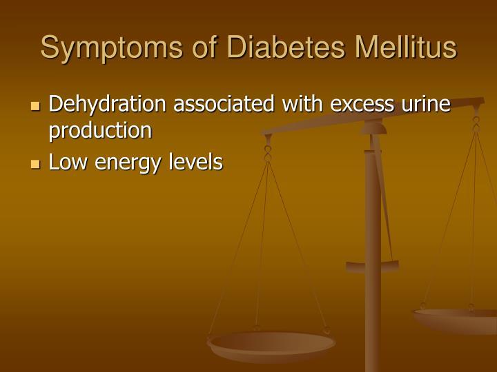 Symptoms of Diabetes Mellitus