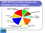 2008 nhts provides trends over 40 years of core content