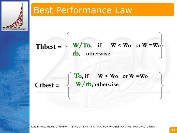 Best Performance Law