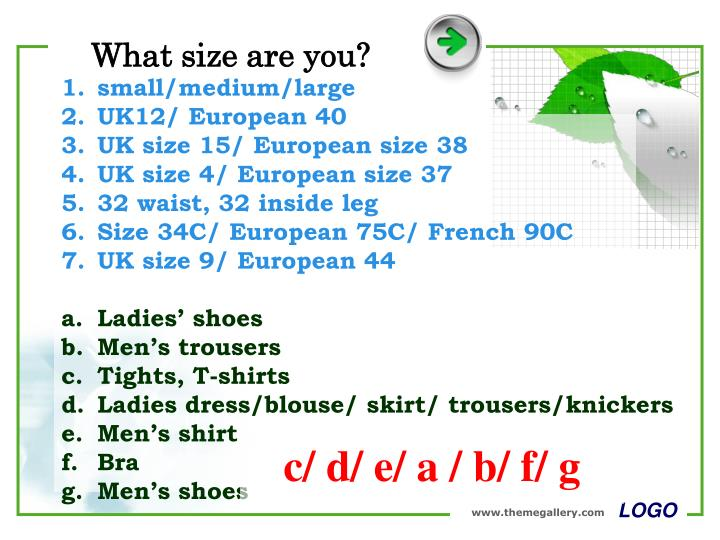 What size are you?