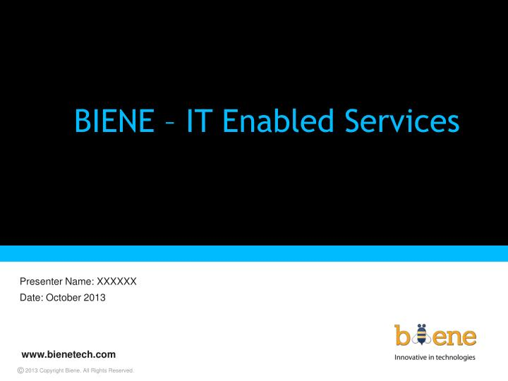 biene it enabled services n.