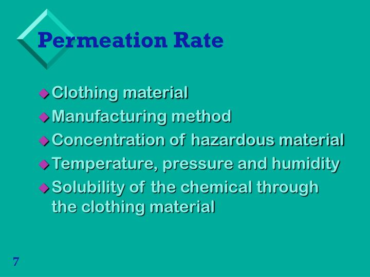 Permeation Rate
