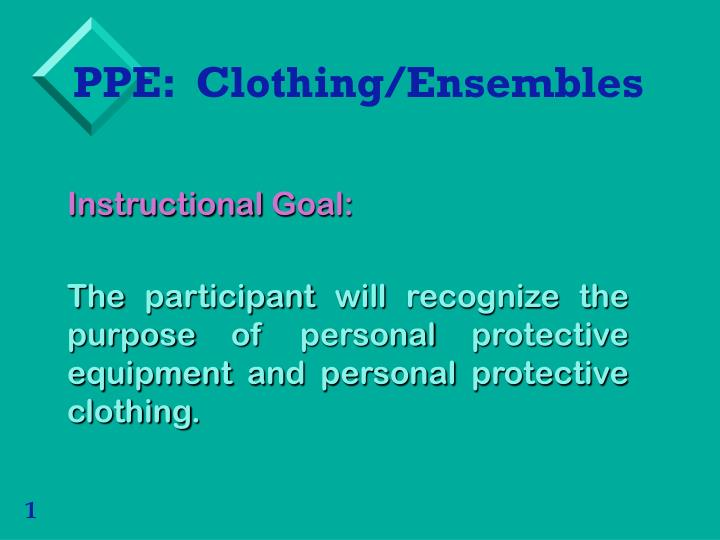 Ppe clothing ensembles