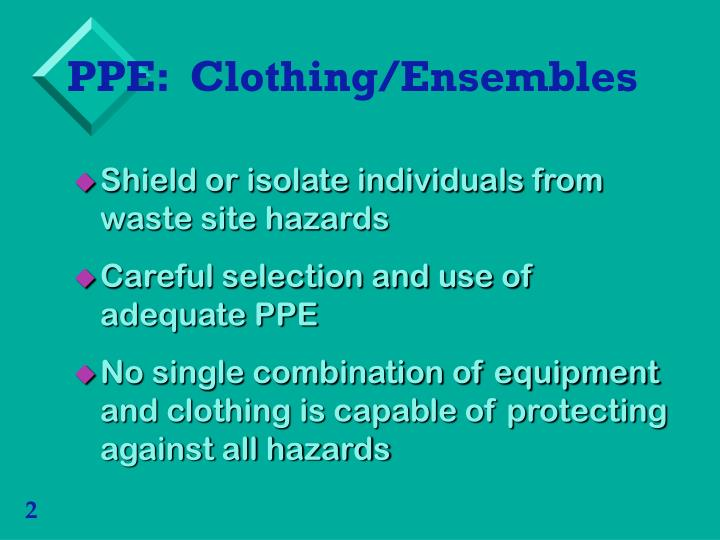 Ppe clothing ensembles1