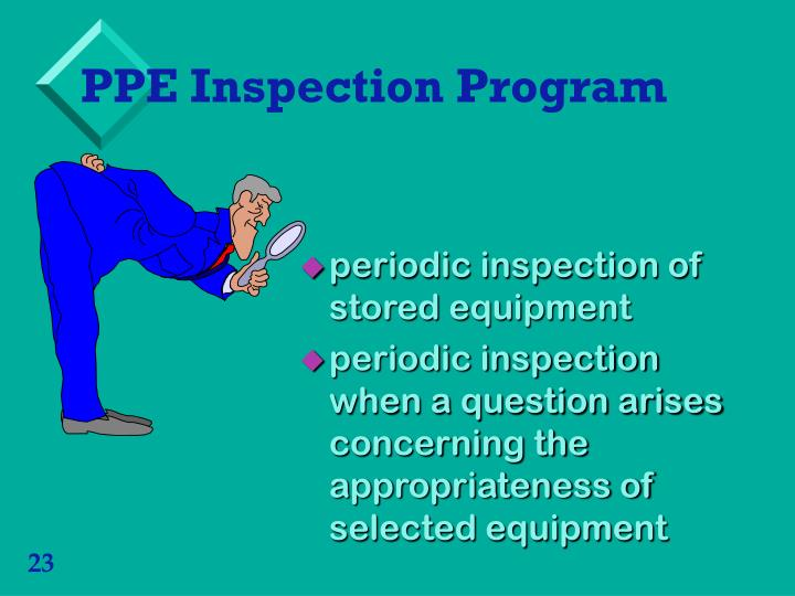 PPE Inspection Program
