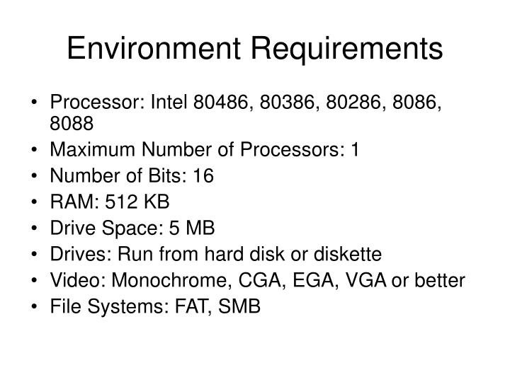 Environment Requirements