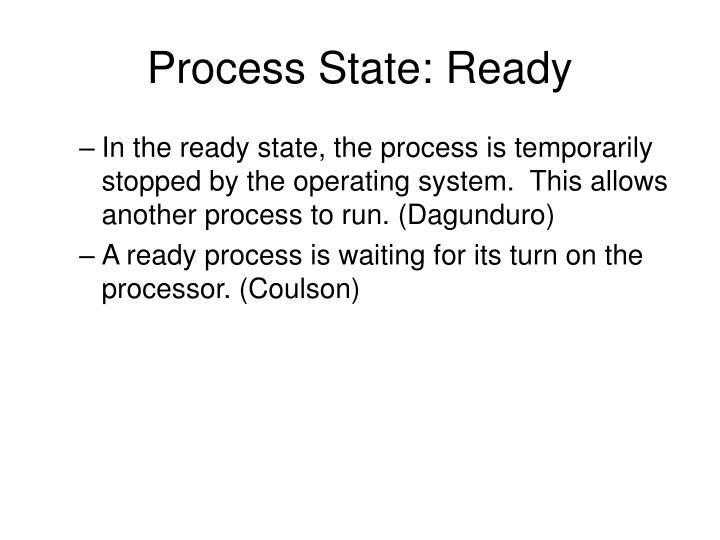Process State: Ready