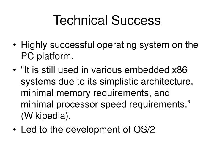 Technical Success