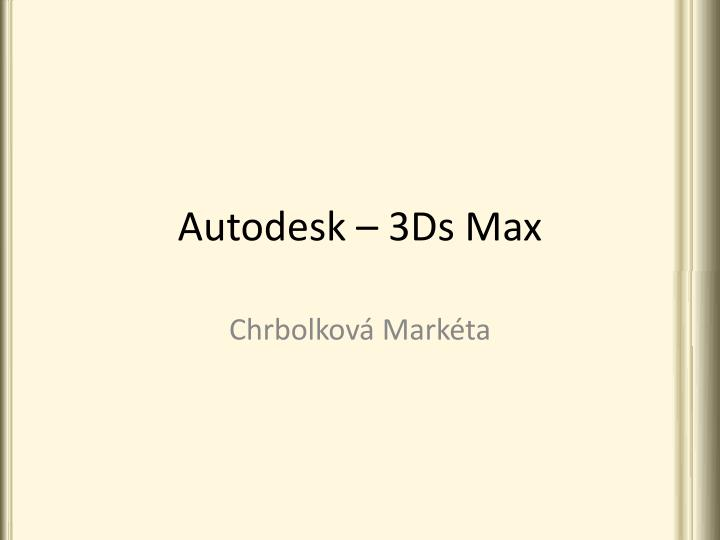 autodesk 3ds max n.