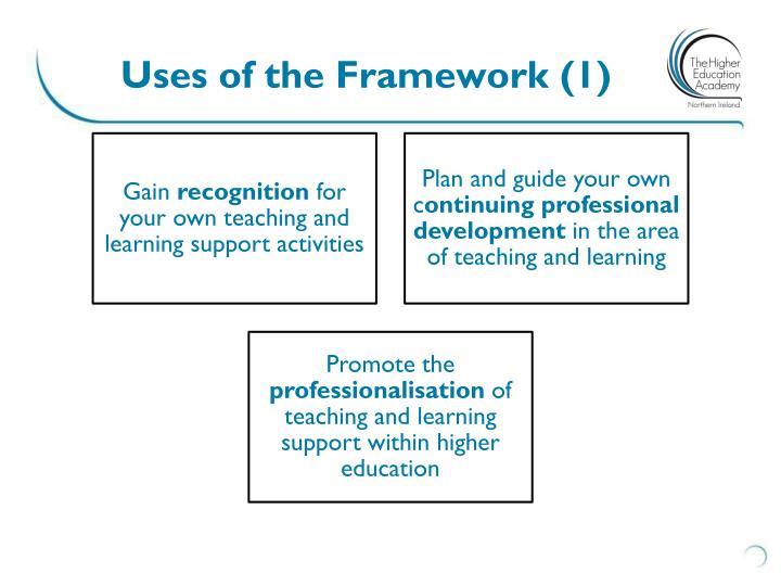 Uses of the Framework (1)
