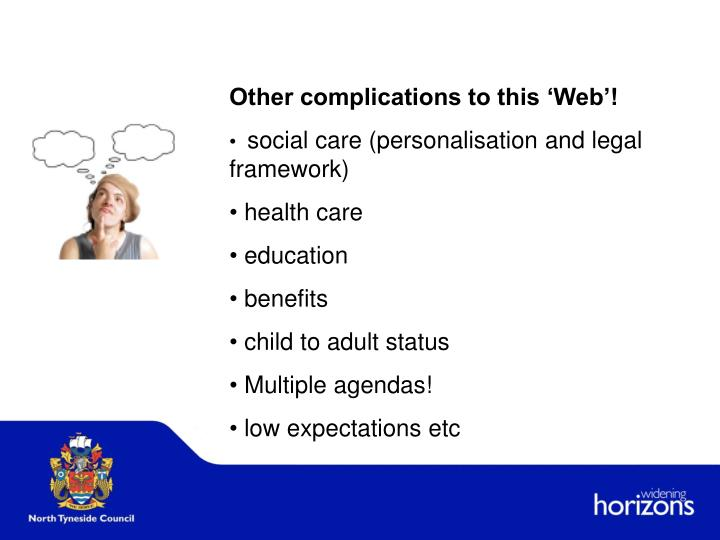 Other complications to this 'Web'!