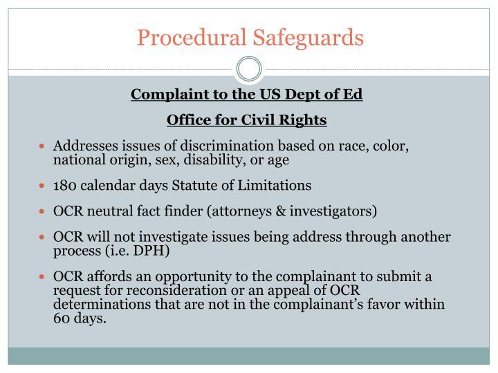 Procedural Safeguards