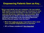 empowering patients seen as key