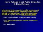 harris national found public divided on ehr and privacy