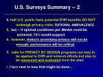 u s surveys summary 2