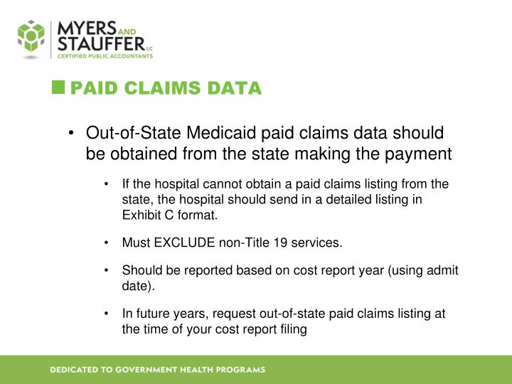 Paid Claims Data