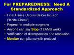 for preparedness need a standardized approach1