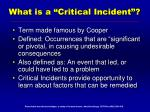 what is a critical incident