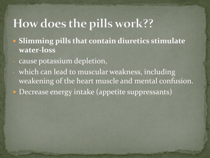 How does the pills work??