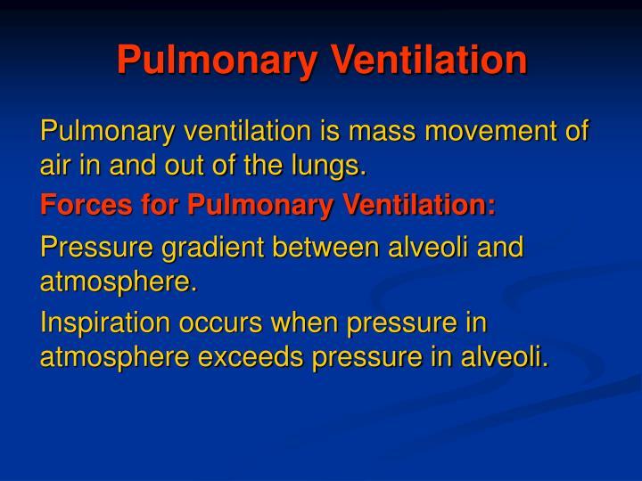 Pulmonary ventilation1