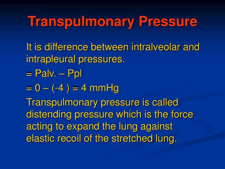 Transpulmonary Pressure