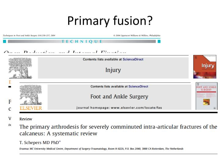 Primary fusion?